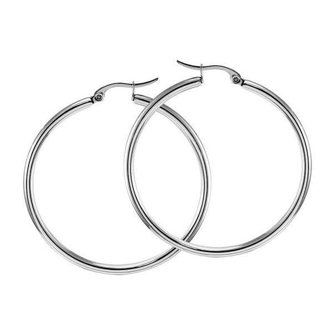 FSER31-A  55MM  40Nine Stainless Steel Earrings