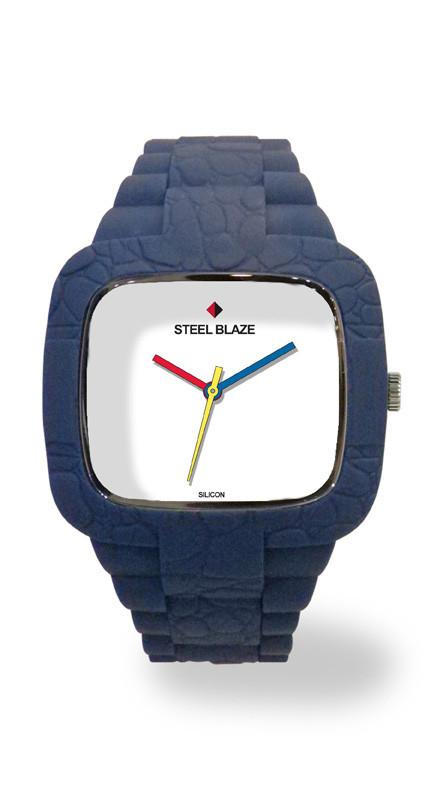 SB0048-3-BLUE Silicone Blaze Watch