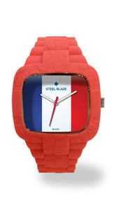 FRANCE2 Silicone Blaze Watch