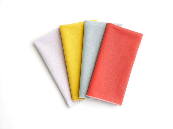 linen solid napkin set of 4