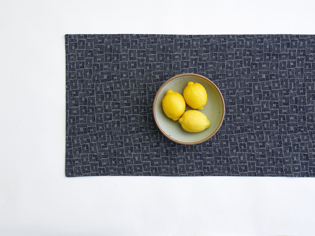 dark blue table runner