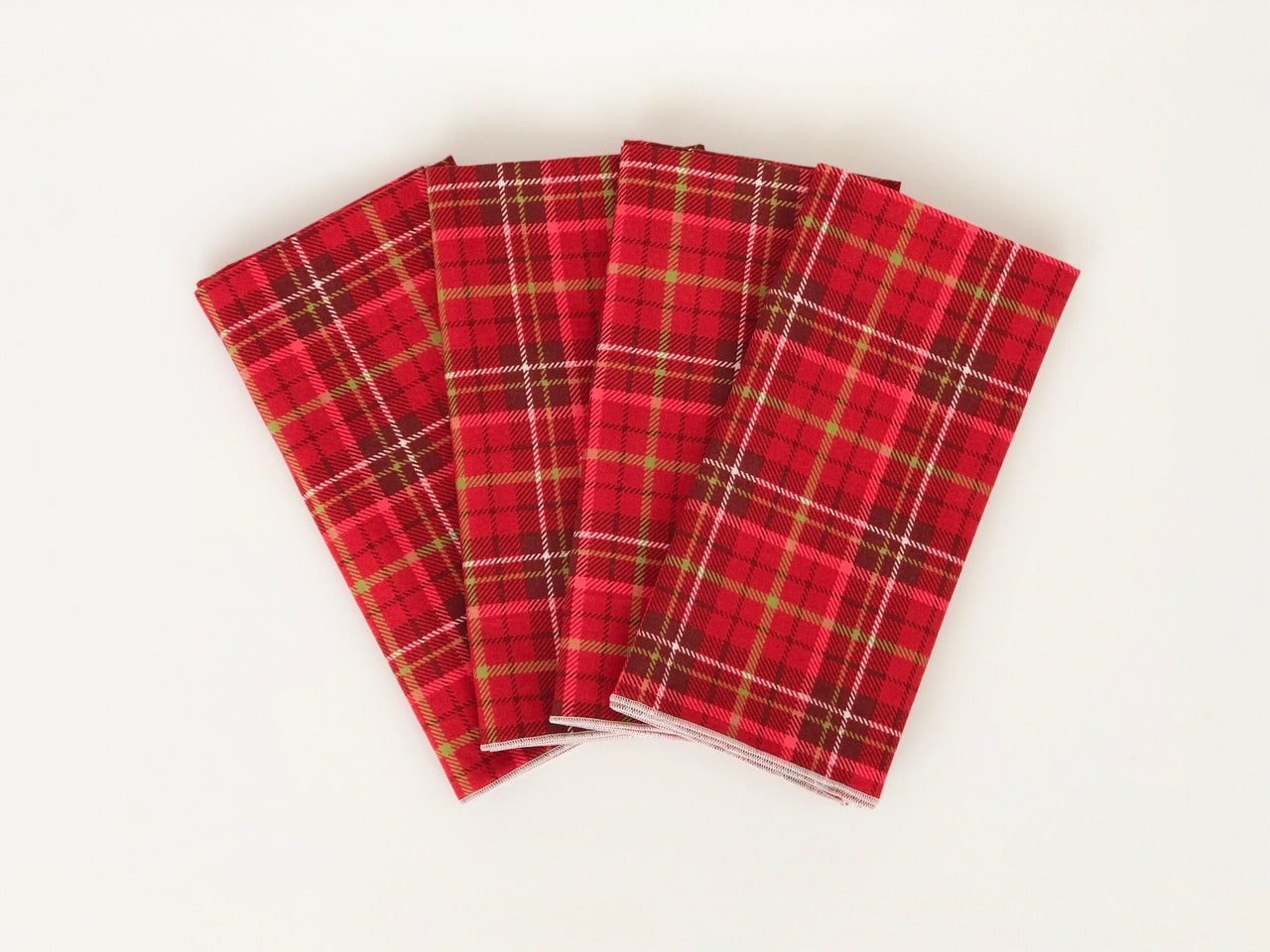 Red plaid napkins- set of 6