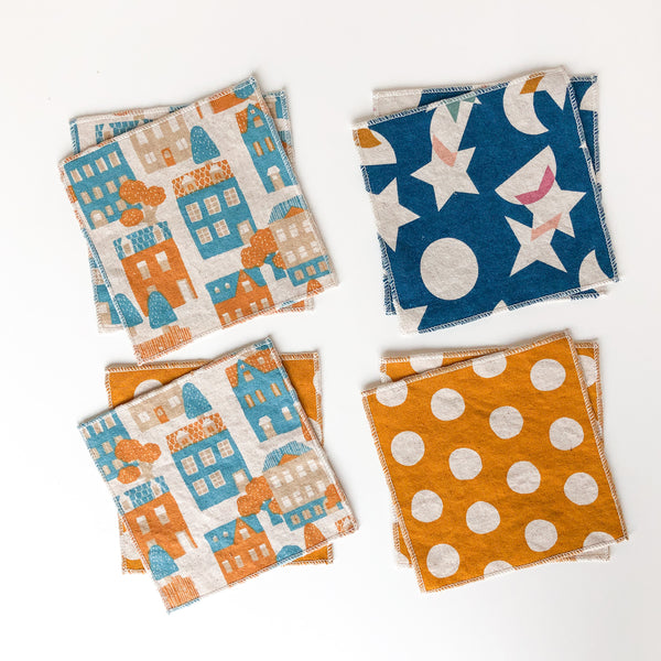 home is where we are - tiny napkins set of 8