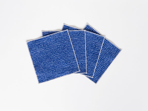 blue tiny napkins set of 4