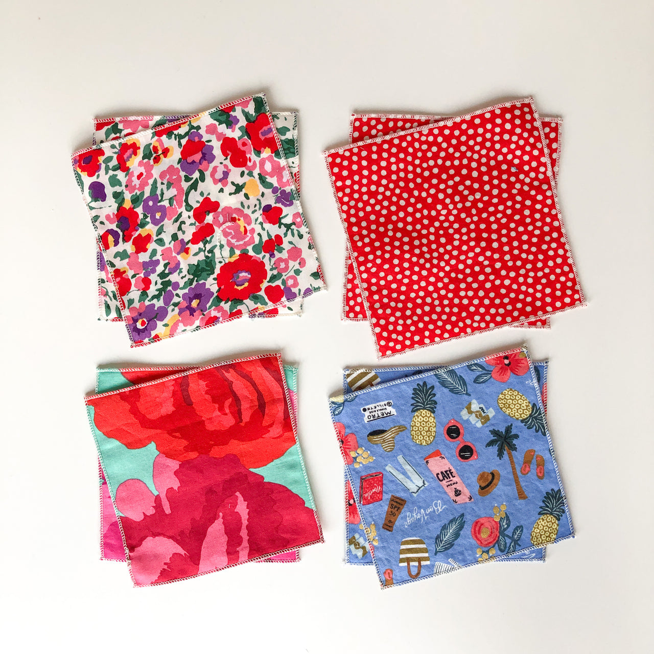 bright and happy - tiny napkins set of 8