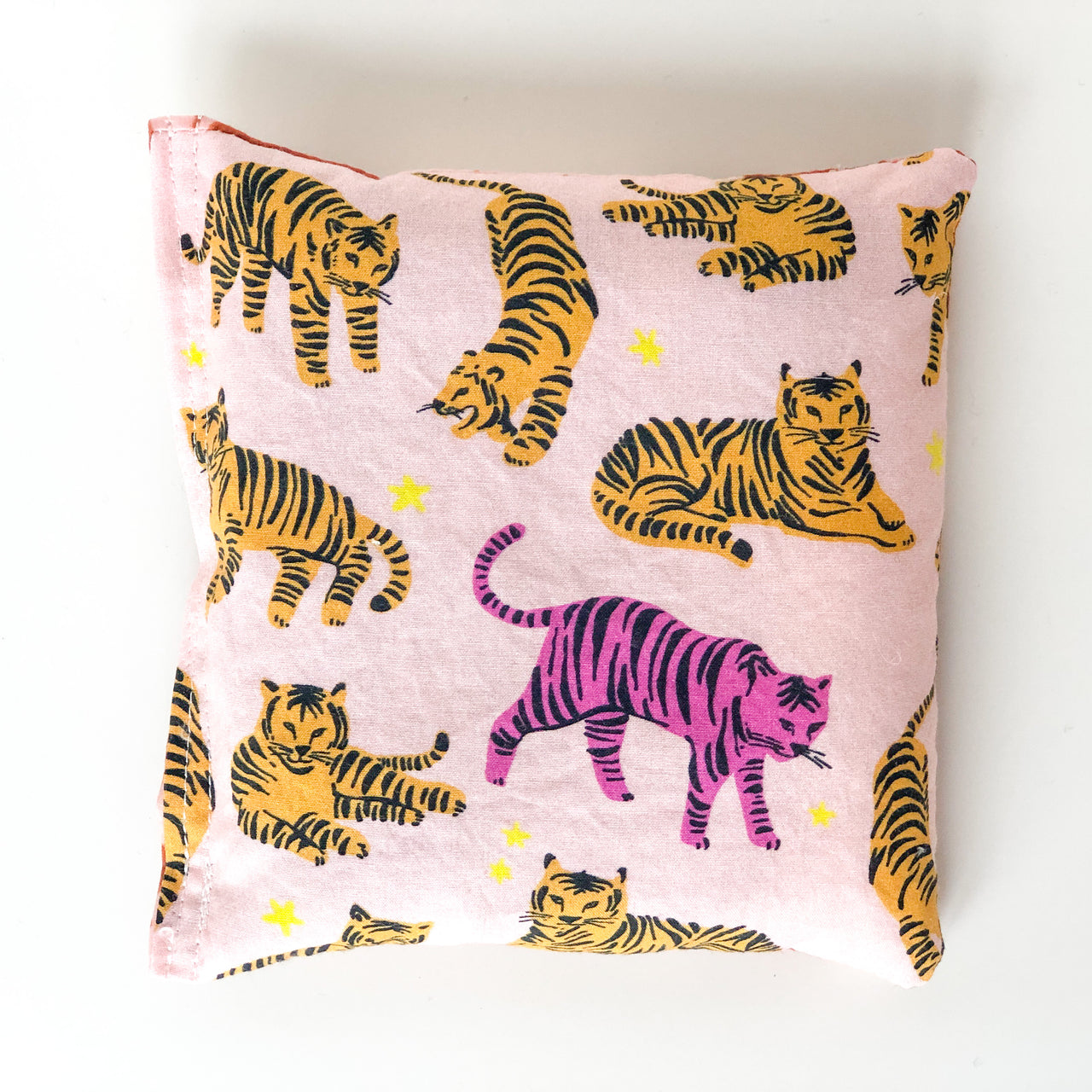 Lavender pillow - pink tigers and desert feels