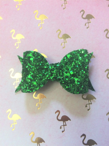 Green Glitter Bow by Apollo and Wynn