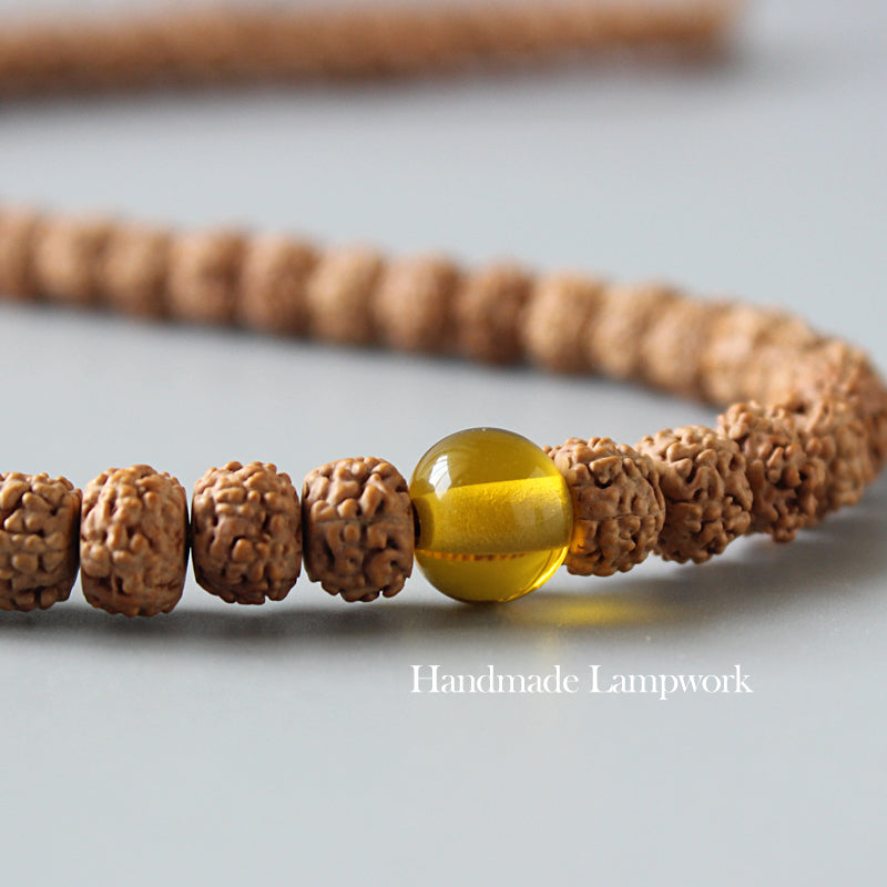Cleansed Chakra Necklace (Rudraksha Beads)
