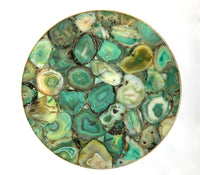 Light Green Agate Round Coffee/Side Table