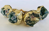 Set of 4 Moss Green Agate Classic Vintage Finish Cabinet Drawer Pull Wardrobe Dresser Interior Decorative Handle