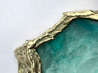 Large Aqua Agate Cheeseplatter/Tray/Persoanlised Momentos/Sign Boards