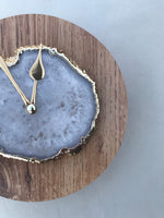 "7.5"" Large Light Wood White Agate Wall/Desk Clock/Personalised Momento"