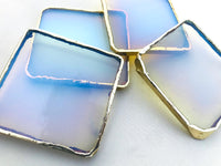 Glass Opal - Set of 4 large coasters/Personalised Momentos