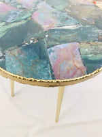 Green Agate Round Edge Side/Coffee Table