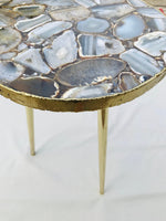 Black Agate Round Edge Side/Coffee Table
