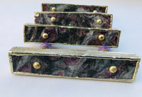 Set of 4 Lepidolite Gemstone/Agate Handle Barbarella