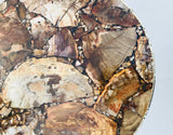 Petrified Wood Agate Round Edge Side/Coffee Table