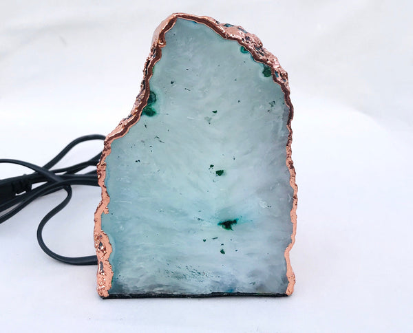 Aqua Agate/Gemstone/Lamp/Desk/Night Light
