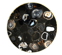 "Black Agate Round Coffee/Side Table | 12"", 14"" or 16"""
