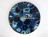 Blue Agate Wall Clock | Circular
