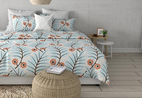 Lush Fully Embroidered Cotton Linen Duvet Cover | Duvet Cover Set | Shams | Floral