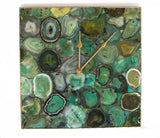 Light Green Agate Wall Clock | Square