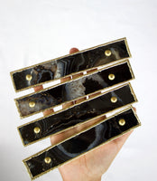 Set of 4 Black Agate Handle/Pull/Barbarella