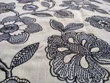 Jonquil Fully Embroidered Cotton Linen Duvet Cover | Duvet Cover Set | Shams | Floral