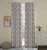 Jonquil Full Embroidered Custom Curtain | Floral | Custom Made Sizes | Custom Made Headers | Lined | 2 Panels