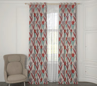 Blush Full Embroidered Custom Curtain | Stripes | Custom Made Sizes | Custom Made Headers | Lined | 2 Panels