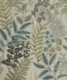Herbarium Full Embroidered Custom Curtain | Stripes | Custom Made Sizes | Custom Made Headers | Lined | Single Panel