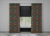 Chic Full Embroidered Custom Curtain | Stripes | Custom Made Sizes | Custom Made Headers | Lined | Single Panel