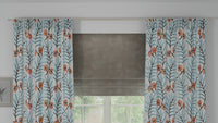 Lush Full Embroidered Custom Curtain | Stripes | Custom Made Sizes | Custom Made Headers | Lined | Single Panel