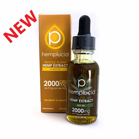 Hemplucid 2000mg Extract MCT Oil