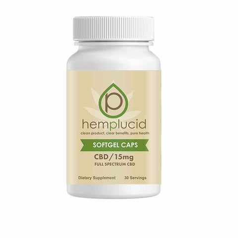 Hemplucid 15MG Gel Caps 30cnt