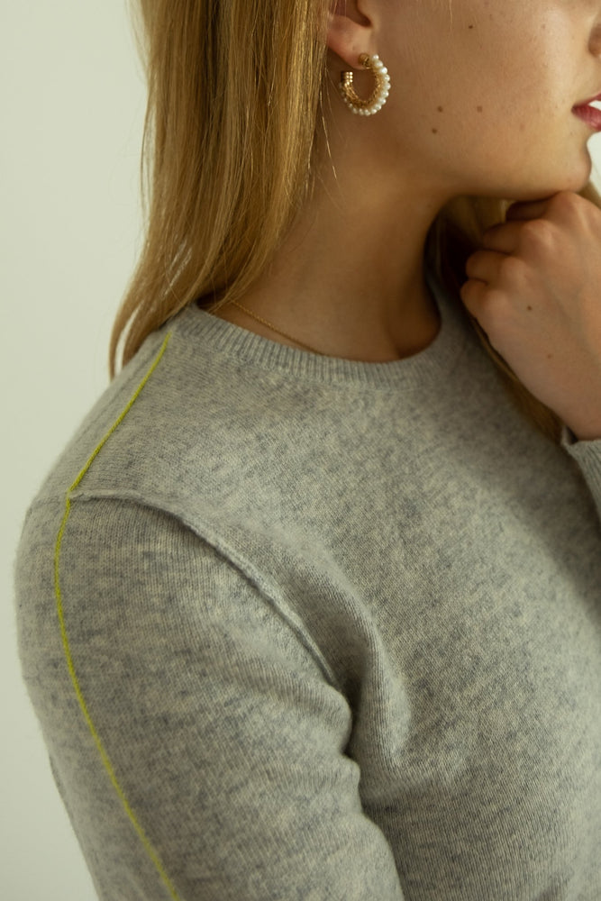 La Sororité - Round Neck Grey Jumper