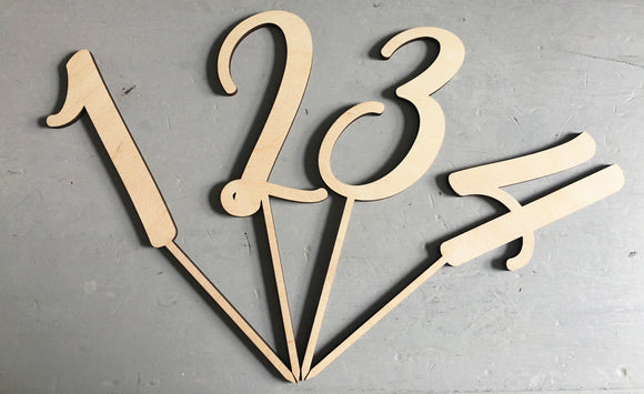 ITALIC NUMBER CAKE TOPPER