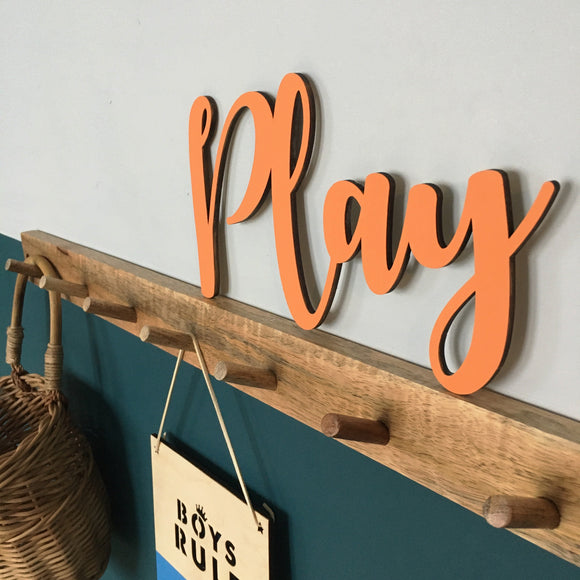 PLAY WALL PLAQUE
