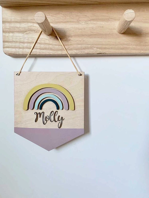 PERSONALISED RAINBOW PLAQUE