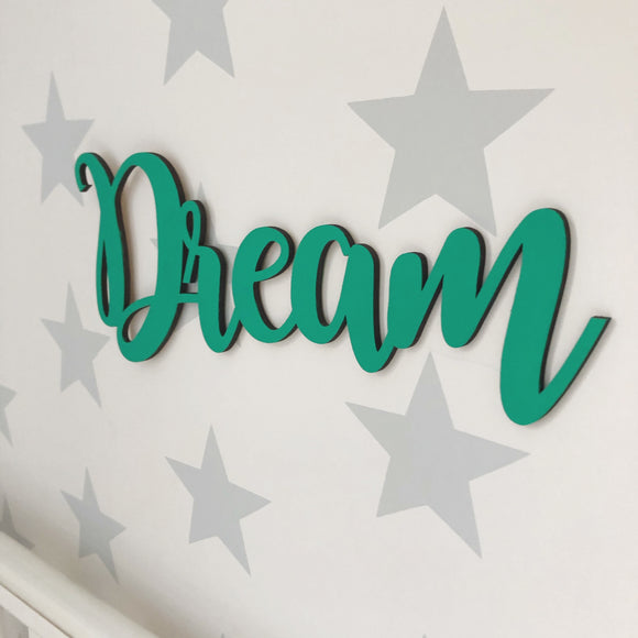 DREAM and DREAMER WALL PLAQUES