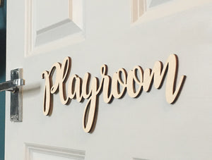 ITALIC PLAYROOM SIGN