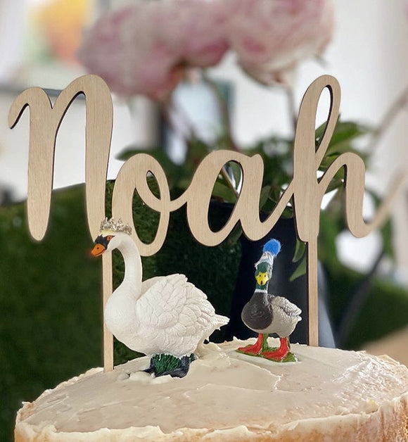 SINGLE NAME CAKE TOPPER
