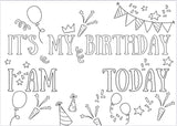 PRINT AND SEND IT'S MY BIRTHDAY