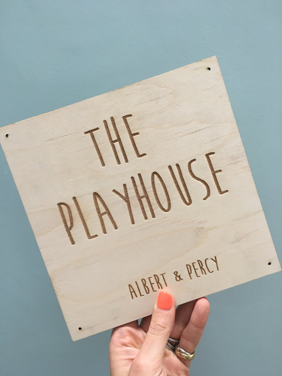 PLAY HOUSE PLAQUES