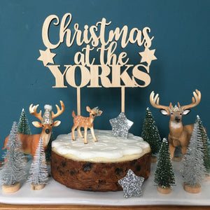 MERRY CHRISTMAS AT THE....  STAR CAKE TOPPER