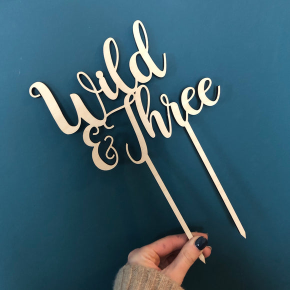 WILD and AGE Cake Topper