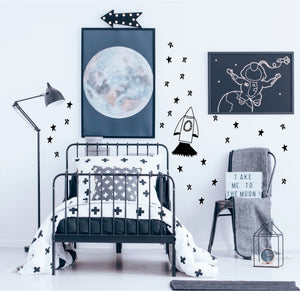 ROCKET AND STAR WALL STICKERS