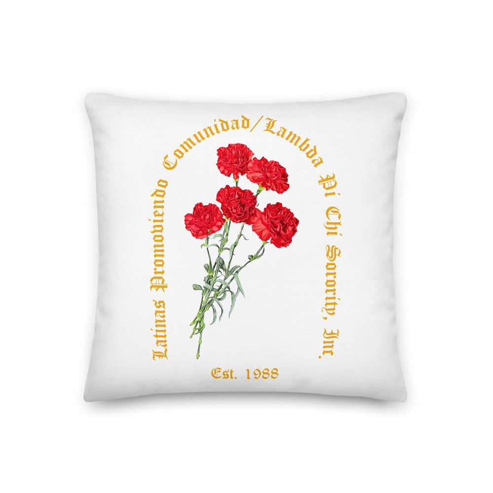 Carnation Floral Reversable Pillow