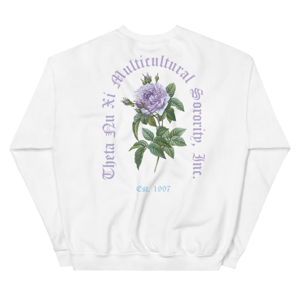 Butterfly Rose Floral Crewneck