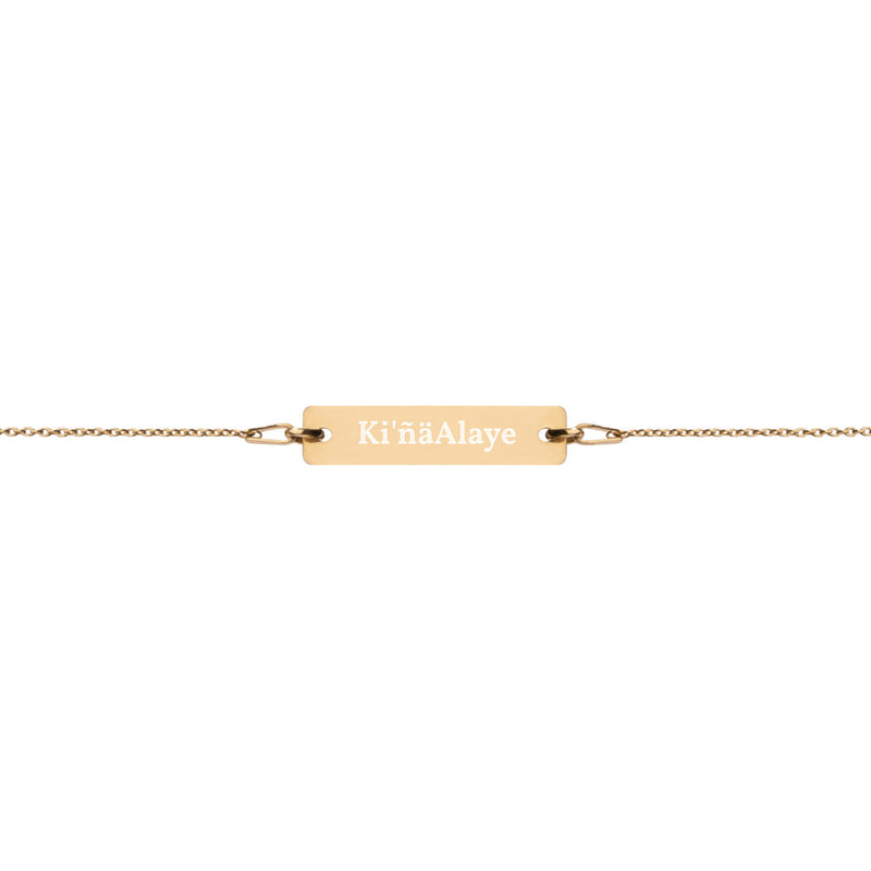 Engraved Gold-Plated Bracelet with Hermana/Line Name